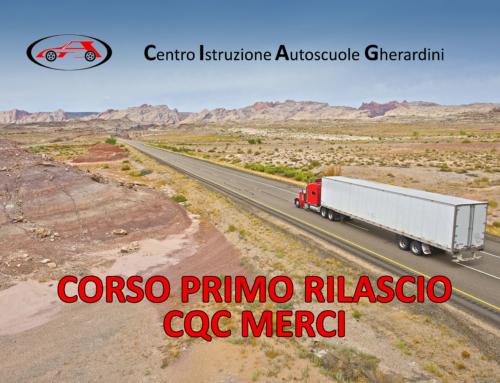 Primo rilascio CQC merci – Maggio 2020 – Firenze, Prato, Pistoia